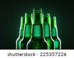 Beer Bottles Of Green Glass