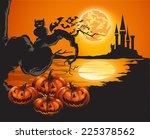 halloween background | Shutterstock . vector #225378562