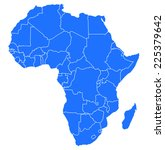 map of africa  | Shutterstock .eps vector #225379642