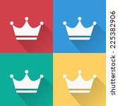 crown icon   flat design on 4... | Shutterstock .eps vector #225382906