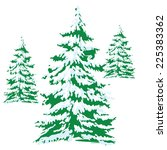 christmas tree  vector | Shutterstock .eps vector #225383362