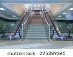 empty escalator stairs in the... | Shutterstock . vector #225389365
