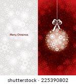 christmas background. vector... | Shutterstock .eps vector #225390802