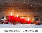 christmas decoration with...   Shutterstock . vector #225394918