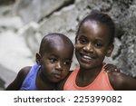 Small photo of RIO DE JANEIRO, BRAZIL - FEBRUARY 22, 2012: Unidentified children in Favela (slums) in Rio de Janeiro.