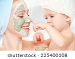 family beauty treatment in the... | Shutterstock . vector #225400108