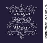 believe in magic and than... | Shutterstock .eps vector #225405976