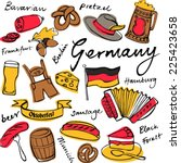 germany icons doodle set | Shutterstock .eps vector #225423658