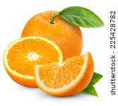 orange fruit isolated on white... | Shutterstock . vector #225428782