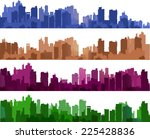 city silhouettes of different... | Shutterstock . vector #225428836