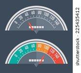 speedometer retro classic | Shutterstock .eps vector #225435412