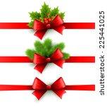 merry christmas ribbon... | Shutterstock .eps vector #225441025
