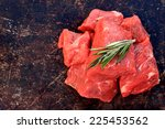 Raw Beef Cubes With Rosemary O...