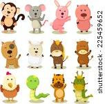 illustrator of zodiac animal set | Shutterstock .eps vector #225459652