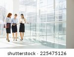 full length of businesswomen... | Shutterstock . vector #225475126