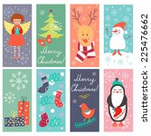 vintage christmas banners with... | Shutterstock .eps vector #225476662