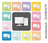 computer icon color set vector... | Shutterstock .eps vector #225481675