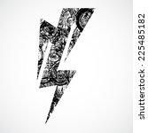 thunderstorm lightning bolt ... | Shutterstock .eps vector #225485182