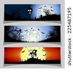 banner halloween | Shutterstock . vector #225487195