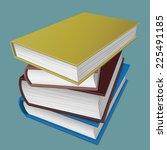 image of stack of books.... | Shutterstock .eps vector #225491185