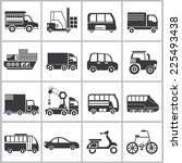 vehicle icons set | Shutterstock .eps vector #225493438