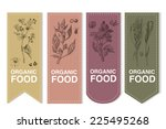 organic labels set with cereals | Shutterstock .eps vector #225495268
