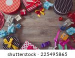 christmas holiday gift shopping ... | Shutterstock . vector #225495865