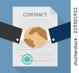 businessman handshake on... | Shutterstock .eps vector #225501922
