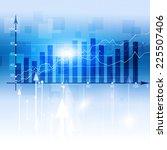 abstract business finance... | Shutterstock . vector #225507406