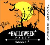halloween party invitation | Shutterstock .eps vector #225509752