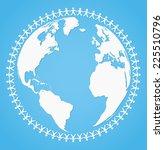 vector illustration of peace...   Shutterstock .eps vector #225510796