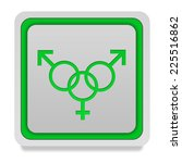 sexuality square icon on white... | Shutterstock . vector #225516862