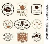 Set Of Labels On Theme Tea....