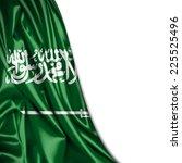 saudi arabia flag and white... | Shutterstock . vector #225525496