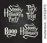 spooky halloween quotes on... | Shutterstock .eps vector #225526972