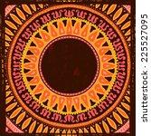 hand drawn  ethnic frame.  all... | Shutterstock .eps vector #225527095