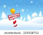 north pole christmas landscape... | Shutterstock .eps vector #225528712