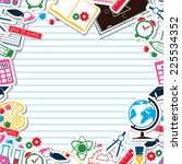 lined paper background   school ... | Shutterstock .eps vector #225534352