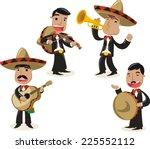 mariachi music band musicians... | Shutterstock .eps vector #225552112