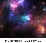 beautiful night sky with... | Shutterstock . vector #225589426