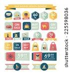halloween sale banner design... | Shutterstock .eps vector #225598036