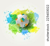 abstract colorful soccer ball... | Shutterstock .eps vector #225603022