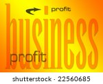 business profit illustration on a flaming background (part of set on similar business themes) - stock photo