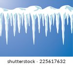 vector icicles and snow... | Shutterstock .eps vector #225617632