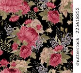 seamless floral pattern roses... | Shutterstock . vector #225618352