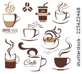 coffee and cafe logo templates... | Shutterstock .eps vector #225622468