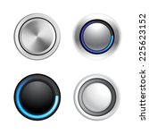 4 buttons in different styles... | Shutterstock .eps vector #225623152