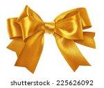shiny gold satin ribbon on... | Shutterstock . vector #225626092