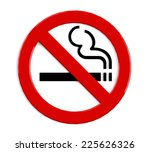 no smoking sign isolated on... | Shutterstock . vector #225626326