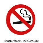 no smoking sign isolated on... | Shutterstock . vector #225626332
